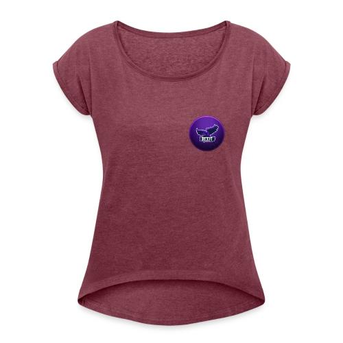 Rexit Shop - Frauen T-Shirt mit gerollten Ärmeln