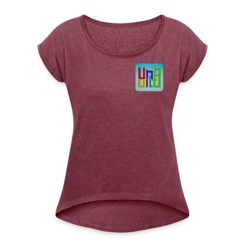 UnBuild App Icon - Frauen T-Shirt mit gerollten Ärmeln