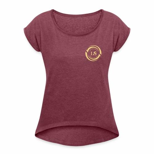 Leadershift Logo - Frauen T-Shirt mit gerollten Ärmeln
