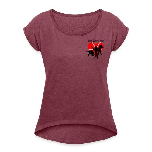 Heart troop - Camiseta con manga enrollada mujer