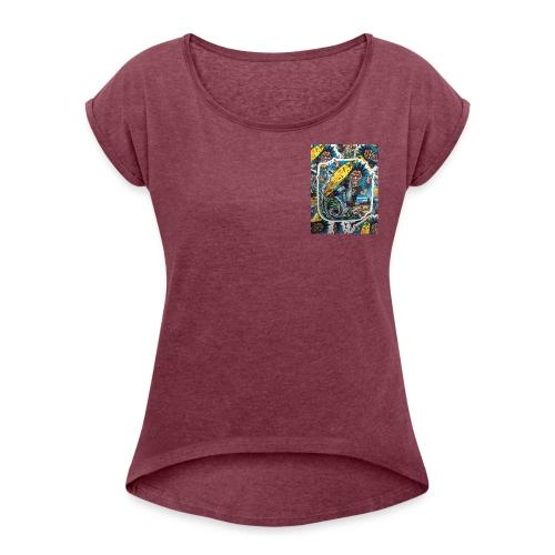 surf punk angry surf guy - Frauen T-Shirt mit gerollten Ärmeln