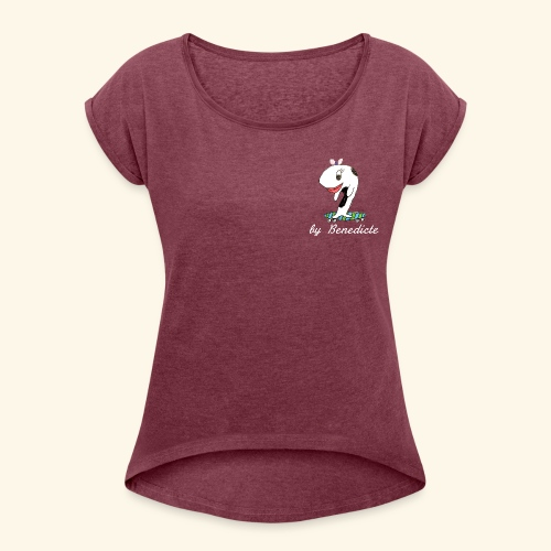 Whale - Women's T-Shirt with rolled up sleeves