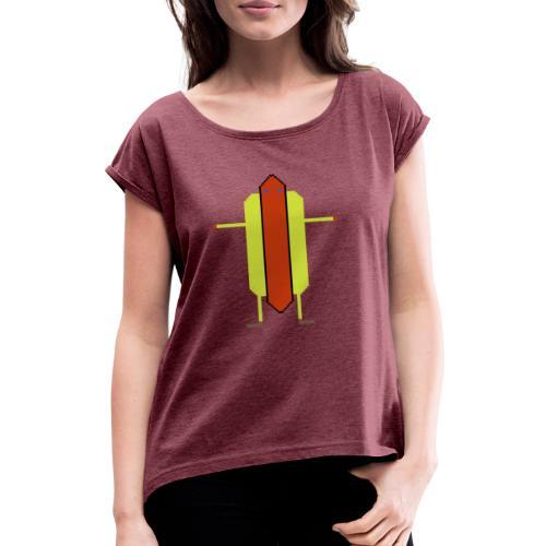 Hotdog - T-shirt med upprullade ärmar dam
