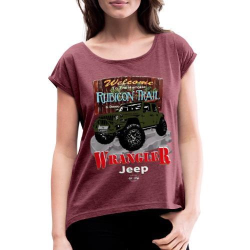 WRANGLER Rubicon Trail - Camiseta con manga enrollada mujer