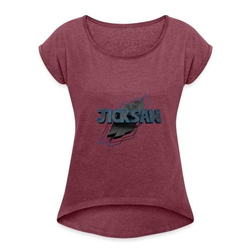 Jicksaw - Logo Merch - Frauen T-Shirt mit gerollten Ärmeln
