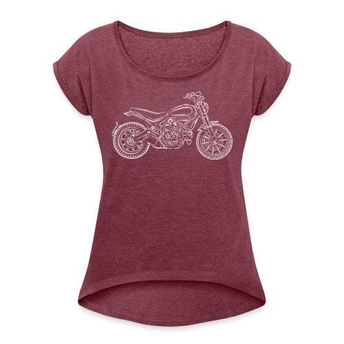 Scrambler - Maglietta da donna con risvolti