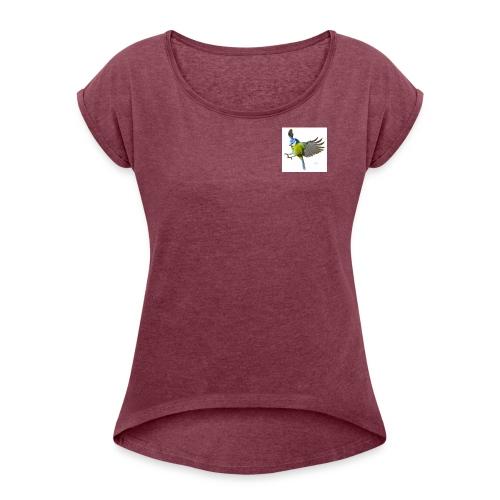 Blåmes Bird - T-shirt med upprullade ärmar dam