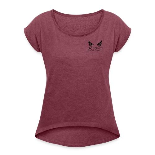 LOGO - T-shirt à manches retroussées Femme