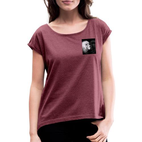 Löwe trifft Löwe - Frauen T-Shirt mit gerollten Ärmeln