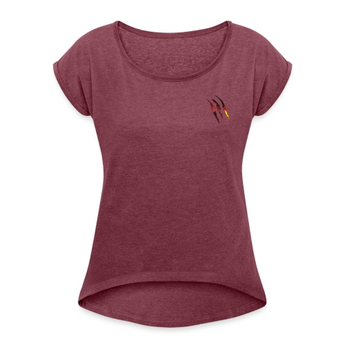 Claw - T-skjorte med rulleermer for kvinner