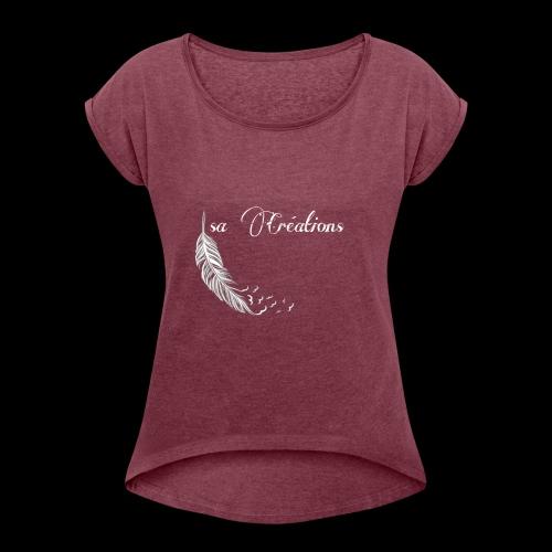 Isa Créations Logo - T-shirt à manches retroussées Femme
