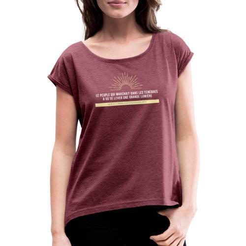 Classique - T-shirt à manches retroussées Femme