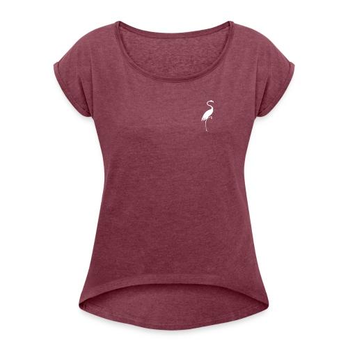 Primal - T-shirt med upprullade ärmar dam
