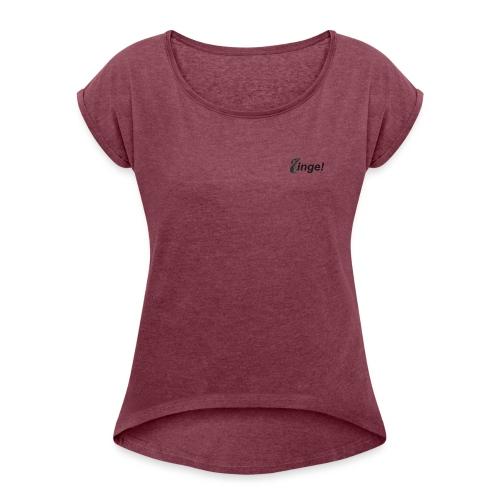 Logo Zinge! klein - Vrouwen T-shirt met opgerolde mouwen
