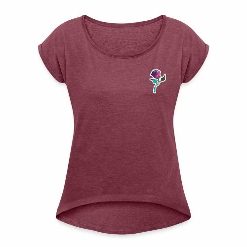 woman - Camiseta con manga enrollada mujer