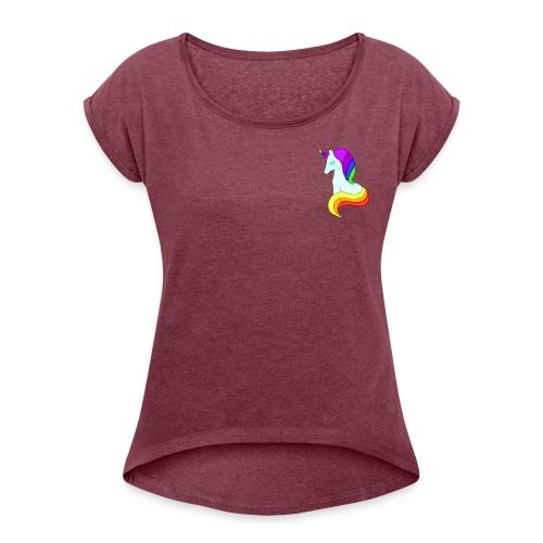Unicornio rules - Camiseta con manga enrollada mujer