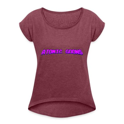 AG_Purple female - T-skjorte med rulleermer for kvinner