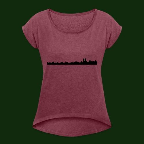New York - Frauen T-Shirt mit gerollten Ärmeln