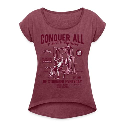 Conquer All2 - T-shirt à manches retroussées Femme