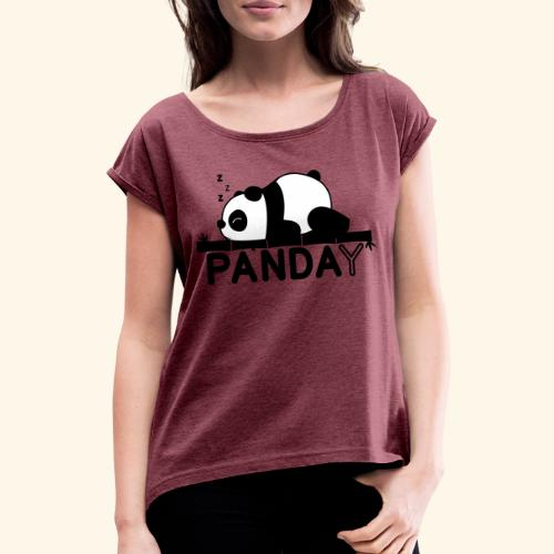 Panday print design - Dame T-shirt med rulleærmer