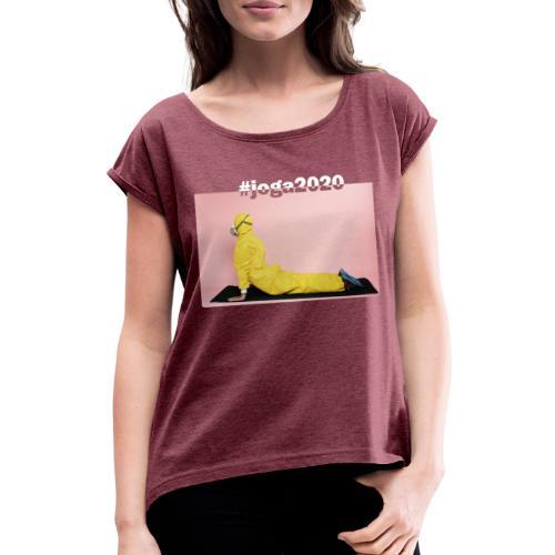 #joga2020 - Frauen T-Shirt mit gerollten Ärmeln