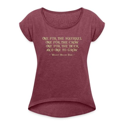 rule of 4 - Frauen T-Shirt mit gerollten Ärmeln