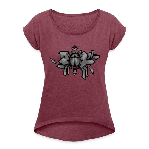 Scarab - T-skjorte med rulleermer for kvinner