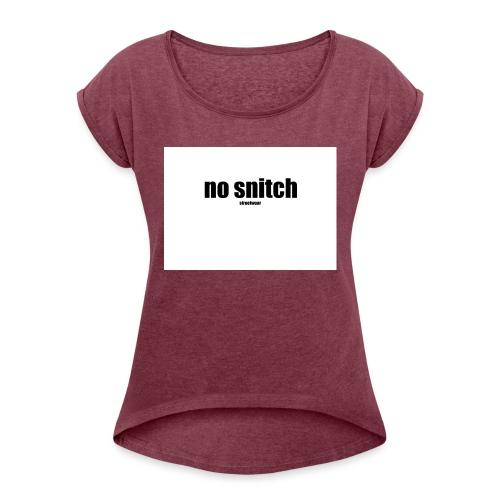 no snitch - Maglietta da donna con risvolti