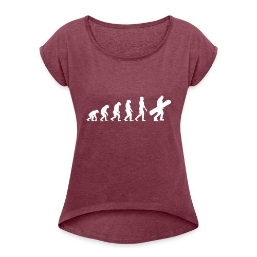 snow evolution - Camiseta con manga enrollada mujer