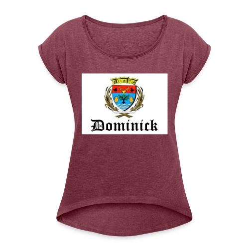 dom 5 - T-shirt à manches retroussées Femme