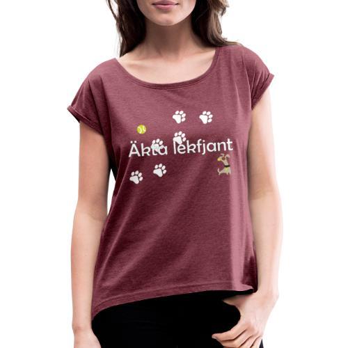 Äkta lekfjant - T-shirt med upprullade ärmar dam