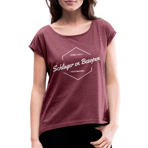 S&B Logo Merch - T-shirt à manches retroussées Femme