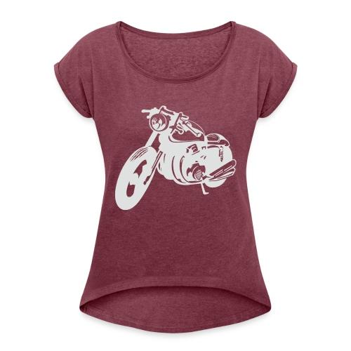 Cafe Racer -Keep it simple - Frauen T-Shirt mit gerollten Ärmeln