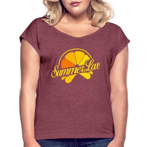 Logo Summer Love 06 - Vrouwen T-shirt met opgerolde mouwen