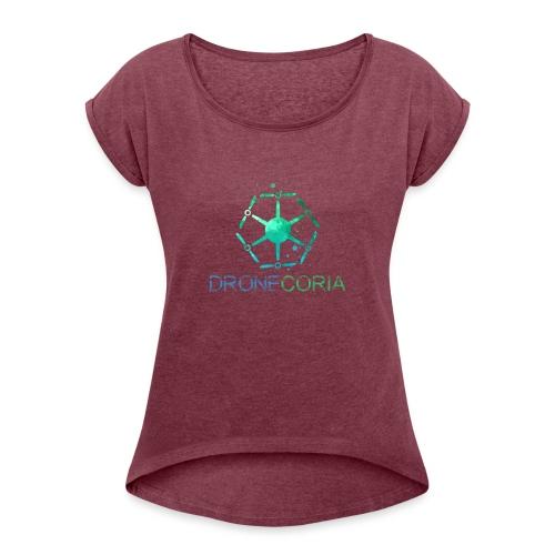 Dronecoria - Camiseta con manga enrollada mujer