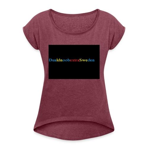 DualdnoobextraSwedens Mugg - T-shirt med upprullade ärmar dam