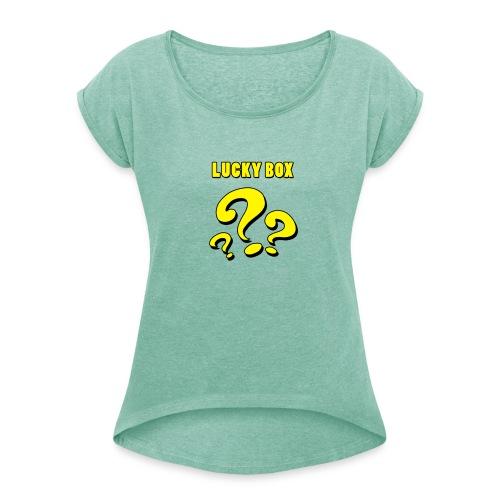 Lucky Box - T-shirt med upprullade ärmar dam
