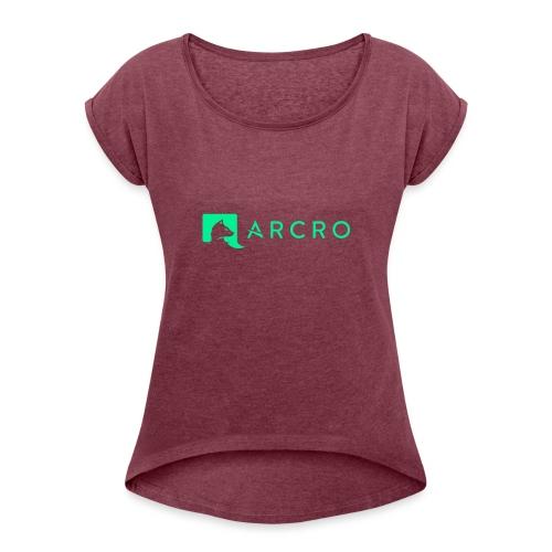 Arcro Clothing - Vrouwen T-shirt met opgerolde mouwen