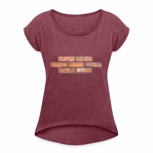 Wall One - Frauen T-Shirt mit gerollten Ärmeln