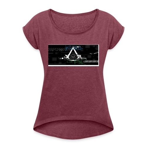 watch creed - Koszulka damska z lekko podwiniętymi rękawami