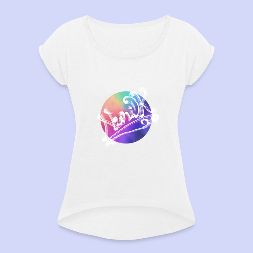 pastel rainbow, NuniDK Collection - Female top - Dame T-shirt med rulleærmer