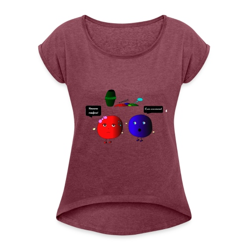 Diseño parchís camiseta - Camiseta con manga enrollada mujer