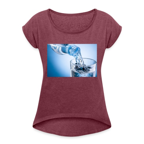 vand - Dame T-shirt med rulleærmer