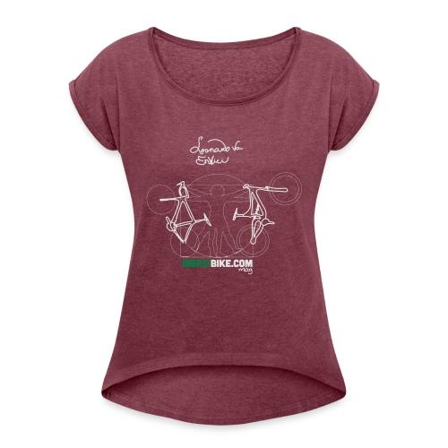 Leonardo Va Envici - Camiseta con manga enrollada mujer