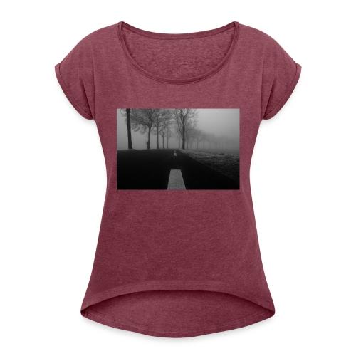 cold - Vrouwen T-shirt met opgerolde mouwen