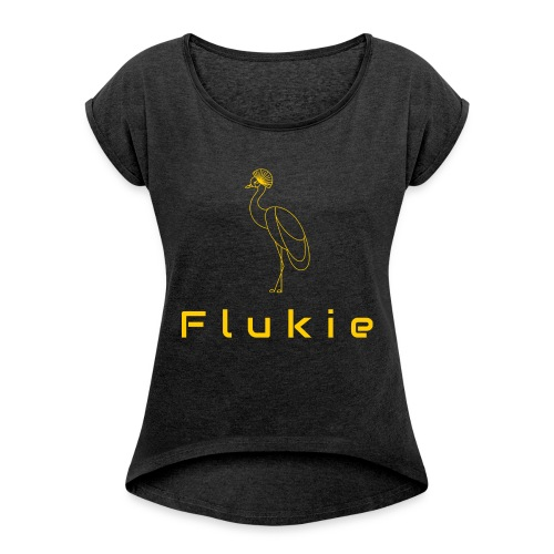 Original on Transparent - Women's T-Shirt with rolled up sleeves