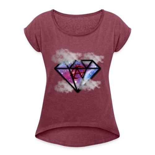 Shine Bright - T-shirt med upprullade ärmar dam