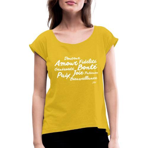 Fruit de l'Esprit - T-shirt à manches retroussées Femme