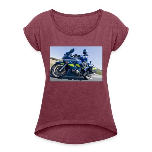 24 heures avec la brigade motorisee de Castelnau l - T-shirt à manches retroussées Femme
