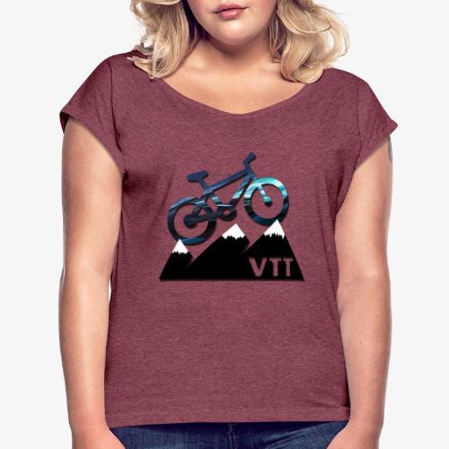 vtt - T-shirt à manches retroussées Femme